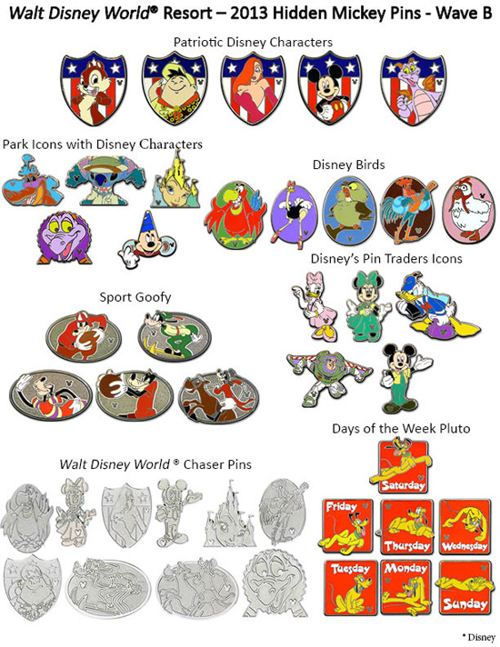 Walt Disney World Hidden Mickey 2013 Wave B