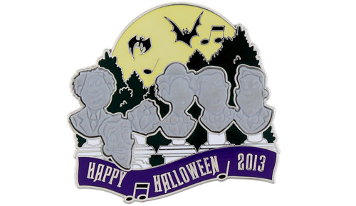 Halloween Singing Busts Pin