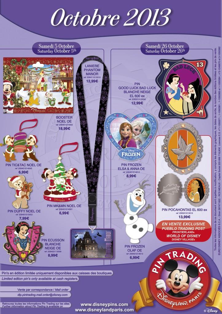 October Disney Paris Pins