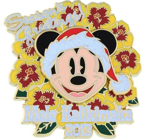 2013 Holiday Mickey Pin