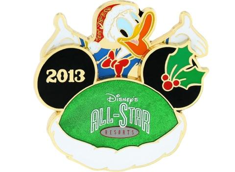 Disney Holiday All Star Pin