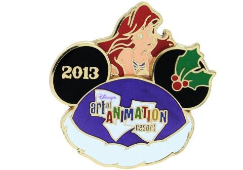 Disney Holiday Art Pin