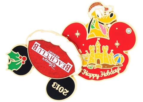 Disney Holiday Beach Club Pin