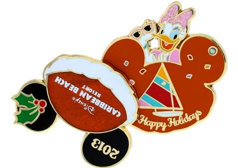 Disney Holiday Caribbean Beach Pin