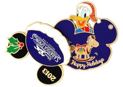 Disney Holiday Saratoga Springs Pin