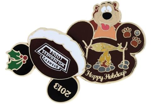 Disney Holiday Wilderness Lodge Pin