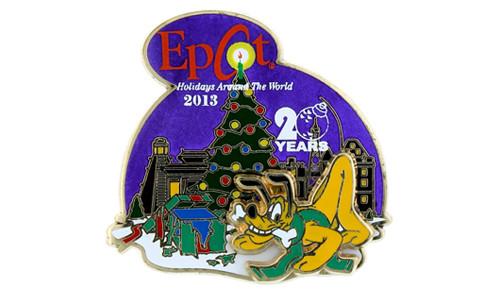 Disney Pluto Holiday Pin 2013