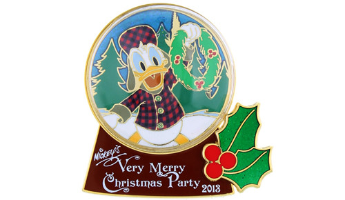 Donald snow globe pin