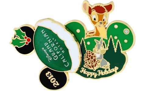 Grand Californian Holiday Pin