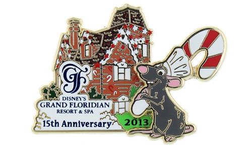 Grand Floridian Christmas Pin 2013