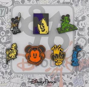 Hipster Mickey Pin Set
