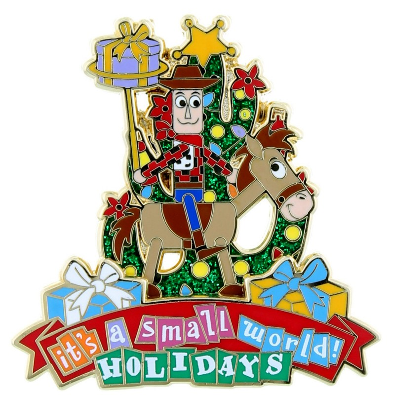 It's a small world holiday pin