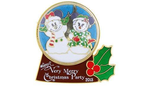 Minnie Mouse snow globe pin