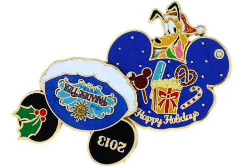 Paradise Pier Holiday Pin