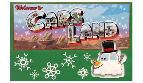 Seasons Speedings Snowy Greeting Card and Pin set