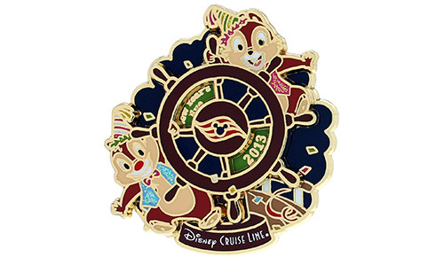 Chip Dale New Years Ship Pin 2014