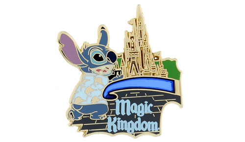 Stitch Magic Kingdom 2014 Pin