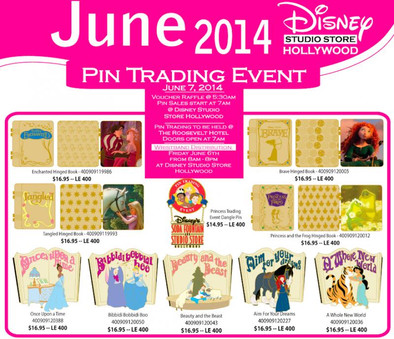 Disney Studio Store Hollywood June 2014 Pins