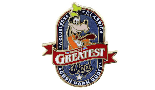 Goofy Best Dad Pin