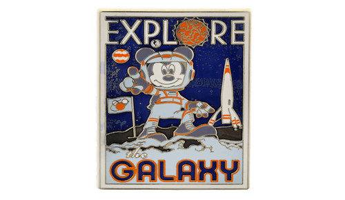 Mickey Explore Galaxy Pin