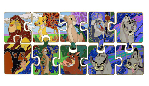 The Lion King Puzzle Pin Set 2014