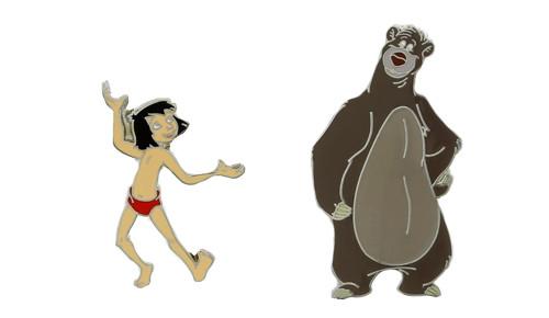 Baloo Mowgli Pins