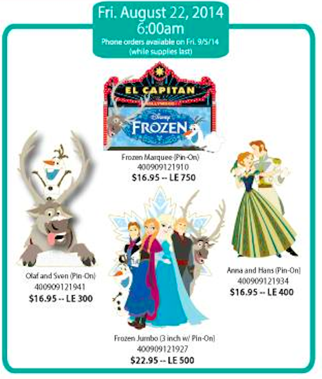 Disney Hollywood August 2014 Pins 3