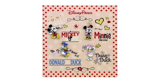 Mickey Shorts Booster Pin Set