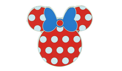 Minnie Blue Bow Pin