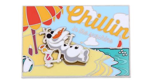 Olaf Summer Postcard Pin