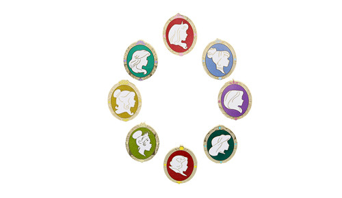 Princess Silhouette Mystery Pin Set