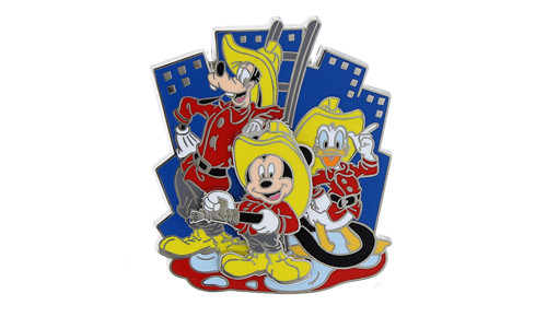 Vintage Mickey Firefighters Pin