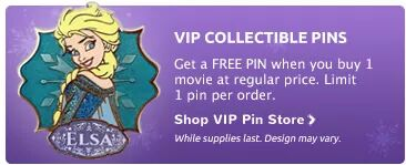 Disney Movie Club Elsa Pin