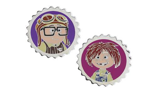 Carl and Ellie as Kids Pins