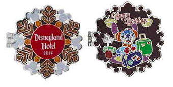 Disneyland Holiday Resort Pins 2014