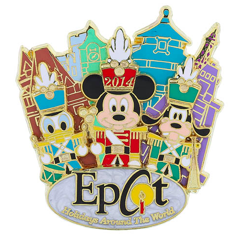 Epcot Holidays Around the World 2014 Pin