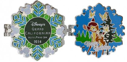 Grand Californian Resort Holiday Pin 2014