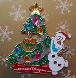 Hong Kong Holiday Olaf Pin