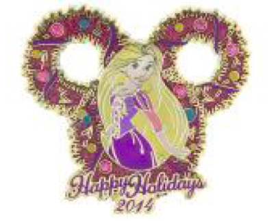 Rapunzel Happy Holidays 2014 Pin