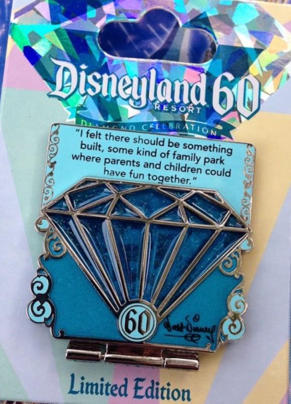 Disneyland 60th Anniversary Pin 1