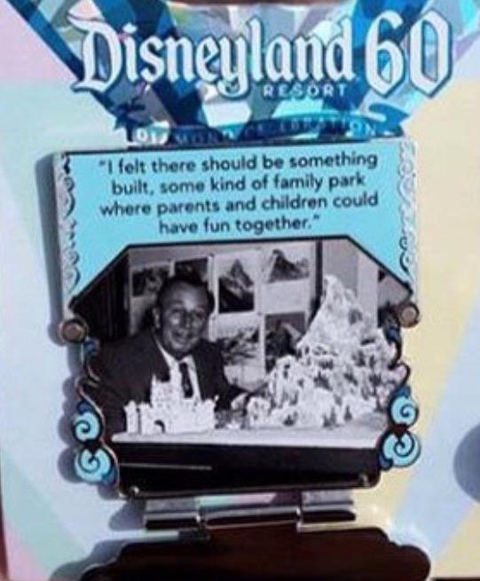 Disneyland 60th Anniversary Pin 1 Opened