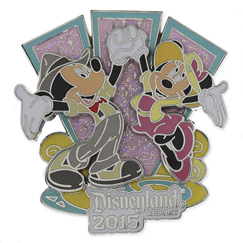 1950s Dancing Mickey and Minnie Pin