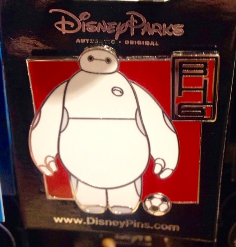 Baymax with Soccer Ball Pin