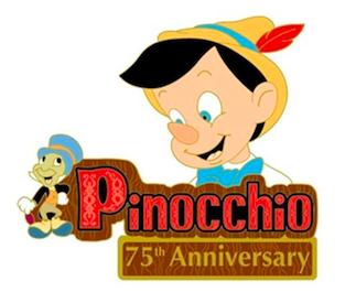 DSSH Pinocchio 75th Anniversary Pin