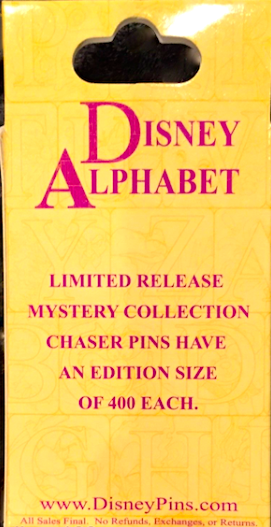 Disney 2015 Alphabet Pin Box
