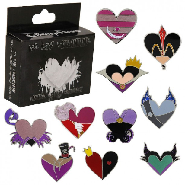 Be My Villaintine Disney Pin Collection