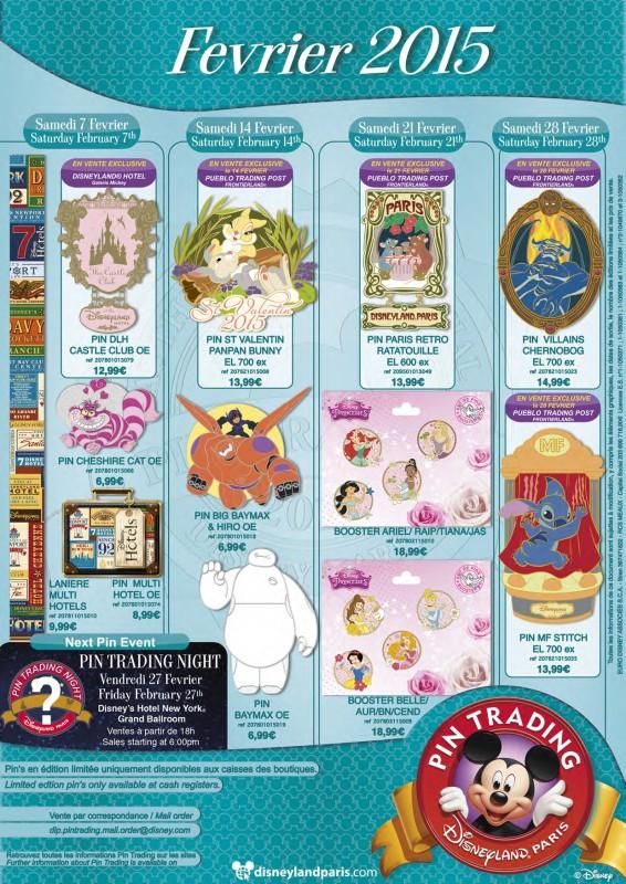 Disneyland Paris February 2015 Pin Releases