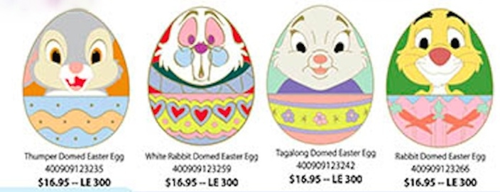 Easter Egg Pins 2015 - Disney Studio Store Hollywood