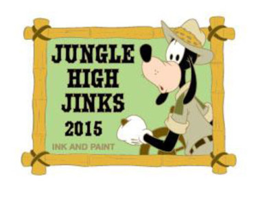Goofy Jungle Hijinks Ink & Paint Pin
