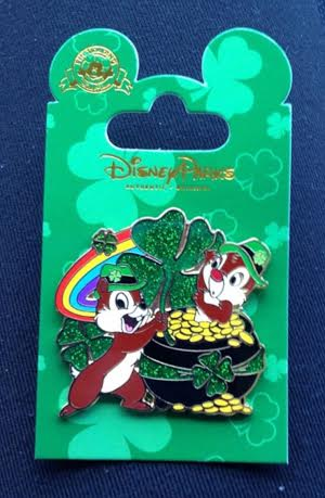 St. Patrick's Day Chip & Dale Pin